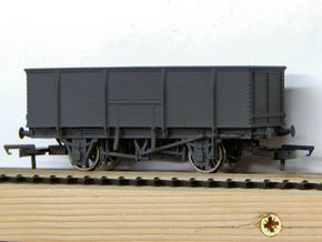 00 GWR N23 21T Mineral Wagon Body in White Strong & Flexible Polished