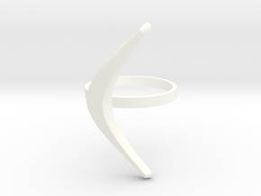 boomerang ring in White Strong & Flexible Polished