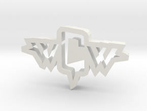 inVasion logo cookie cutter in White Strong & Flexible