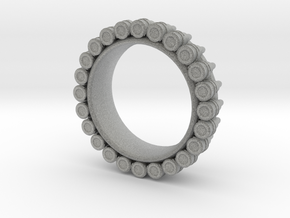 Bullet ring(size = USA 6.5-7) in Metallic Plastic