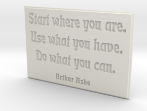 Start where you are in White Strong & Flexible