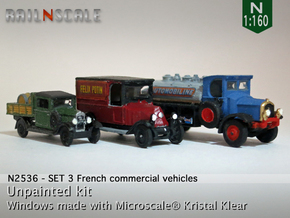 SET 3x Historic commercial vehicles (N 1:160) in Frosted Ultra Detail