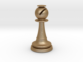 Inception Bishop Chess Piece (Heavy) in Matte Gold Steel
