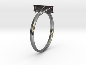 Suspension Ring in Polished Silver