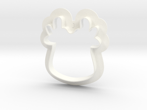 Reindeer Cutter in White Strong & Flexible Polished