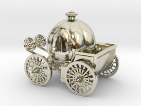 Pumpkin carriage in 14k White Gold