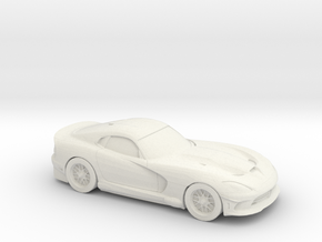 1/87 2014 Dodge Viper in White Strong & Flexible