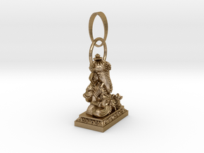 Thai Buddha (A) Small in Polished Gold Steel