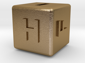 Dice118 in Polished Gold Steel