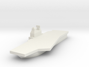 Generic Angled Deck Aircraft Carrier in White Strong & Flexible