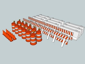 15mm Traffic Cones and Barriers in White Strong & Flexible
