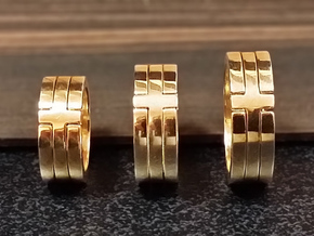(USA) 7 Cross - Multiple Sizes in Polished Brass