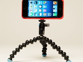 iPhone5 Camera Tripod Mount Case in White Strong & Flexible