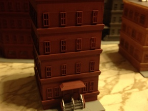 City Apartment Building 1  Z Scale in Frosted Ultra Detail