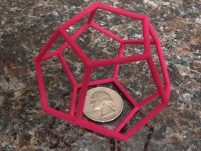 Dodecahedron (100 cc) in Pink Strong & Flexible Polished