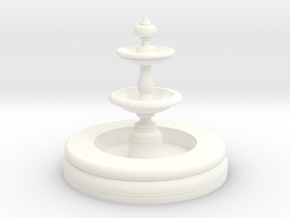 Miniature 1:48 Fountain in White Strong & Flexible Polished