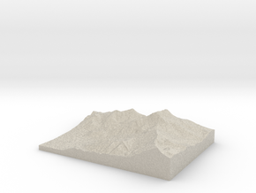 Model of Ross Pass in Sandstone