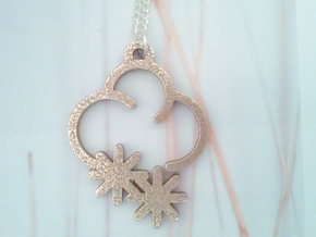 Frosty Cloud - Weather Symbol Pendant in Stainless Steel