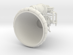 F1 Engine 1:36 in White Strong & Flexible