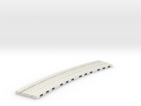 P-165st-long-curved-r2-tram-track-100-6a in White Strong & Flexible