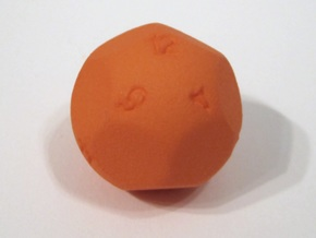 Alt D12 Sphere Dice in Orange Strong & Flexible Polished
