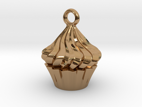 Cupcake Pendant in Polished Brass