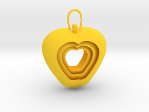 Apple for a rainy day (Pendant) in Yellow Strong & Flexible Polished