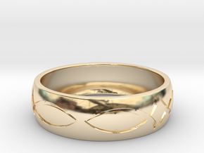 Size 11 Ring engraved in 14K Gold