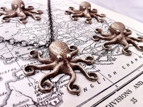 Octopus Pendant in Stainless Steel