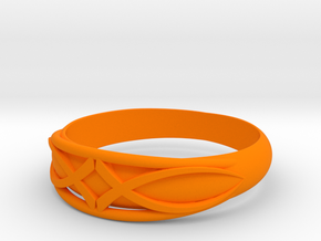 Size 6 L Ring  in Orange Strong & Flexible Polished