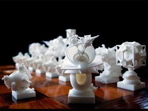 Surreal Chess Set - My Masterpieces -  Bishop II in White Strong & Flexible
