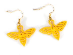 Bee Earrings in Yellow Strong & Flexible Polished