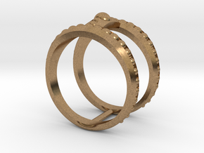 Double Ring Size 7 in Raw Brass