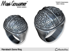 Marrakech Dome Ring in Polished Silver