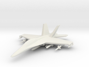 1/285 (6mm) F-18 Super Hornet w/Ordnance Pack-1 in White Strong & Flexible