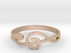 Size 9 G-Clef Ring  in 14k Rose Gold