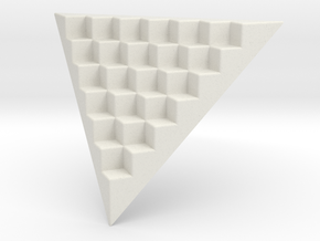Pyramid Base for 16mm Dice (6 per edge) in White Strong & Flexible