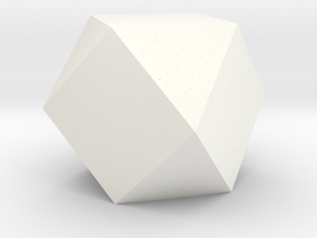 Cube Octahedron (Vector Equilibrium) in White Strong & Flexible Polished