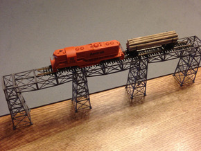 Steel Bridge Trusses Z Scale in Frosted Ultra Detail