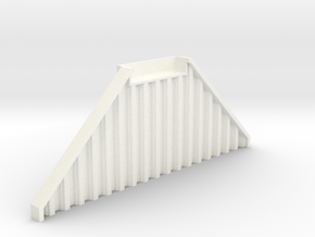 N Scale Bridge Abutment Sheet Piling (55mm) in White Strong & Flexible Polished