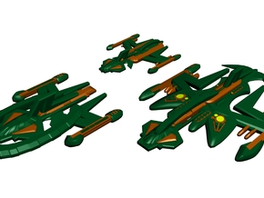 Gorn Fleet of Ships in White Strong & Flexible Polished