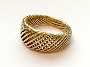 Twisted Ring - Size 10 in Raw Brass
