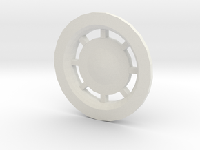3d Rear Engine Nozzles Plate in White Strong & Flexible