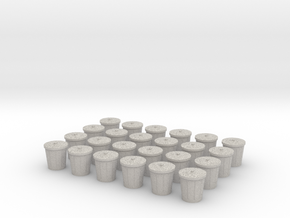 Trash Cans, Set of 24 for Power Grid in Full Color Sandstone