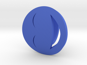 Smile Ring Size 10, 19.8 mm in Blue Strong & Flexible Polished