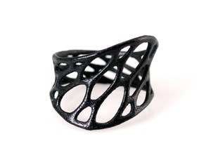 1-layer twist ring in Black Strong & Flexible