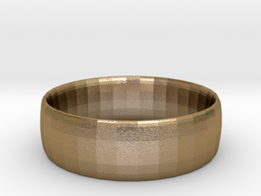 Plain Ring 20 mm x 20mm  in Polished Gold Steel