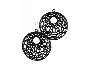 Cellular Earrings - 1 pair in Black Strong & Flexible