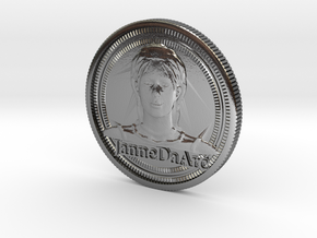 Jehanne Darc coin in Polished Silver
