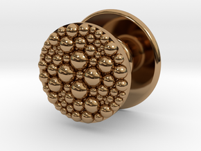 Granulated Button for Tux Shirts  in Polished Brass